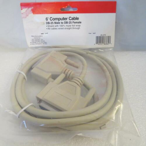 DB-25M//DB25F Computer Cable Shielded Wired Straight Male/>Female GCE 45-379 6 ft