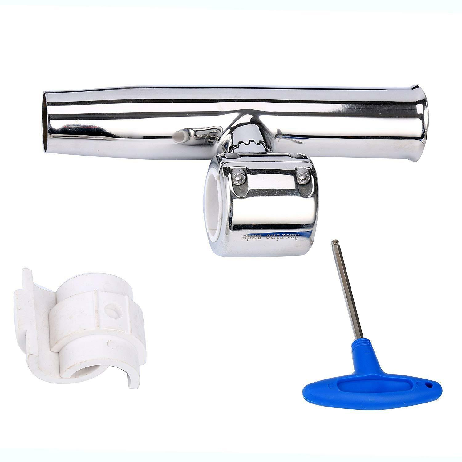 Stainless Fishing Clamp On  Adjustable Rod Holder for Rails greenical Horizontal  outlet sale
