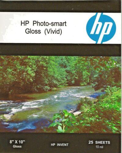 HP Photo-smart Gloss Vivid~8 x 10 Photo Paper~50ct