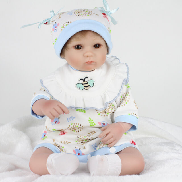 4770d267c Handmade 18in Soft Silicone Vinyl Reborn Doll Real Simulation ...