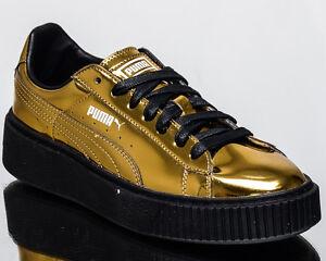 107786d97211 Image is loading Puma-WMNS-Basket-Platform-Metallic -women-lifestyle-sneakers-