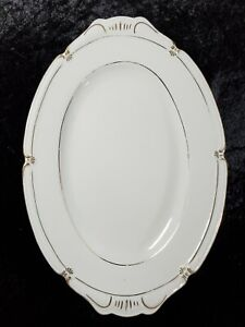 "Winterling Bavaria Germany China White/Gold Trim Oval 13"" Plate Serving Platter"