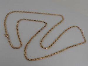 9ct-YELLOW-GOLD-FACETED-BELCHER-NECK-CHAIN-NECKLACE-30-034-LONG-BELCHER-HALLMARKED