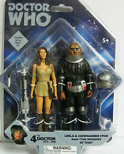 """DOCTOR WHO 4TH DOCTOR WHO LEELA & COMMANDER STOR 5"""" FIGURES THE INVASION OF TIME"""
