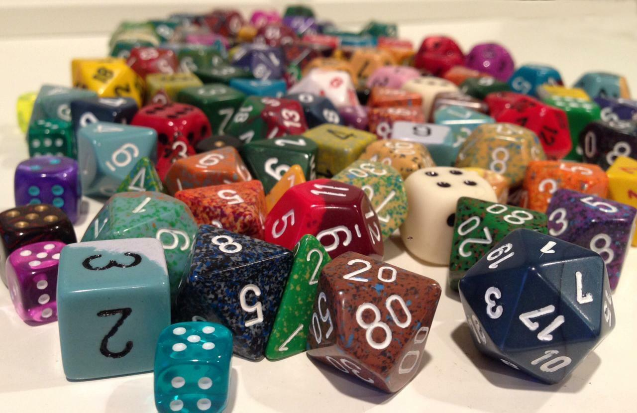 (4) Pound-O-Dice 4, 6, 8, 10, 12, 20 sided dice - Chessex -Assortment-Free Ship