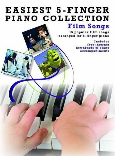Easiest 5-Finger Piano Collection: Film Songs-15 Really Easy Film Songs