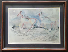 Marjorie Winch Art - Native American Caligraphy Scene - Signed-Framed-Numbered