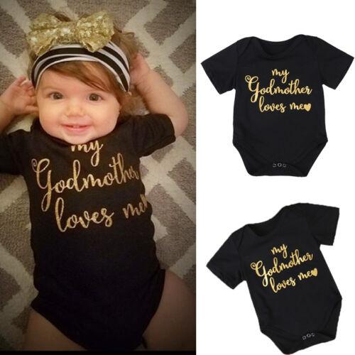 Cotton Newborn Baby Boy Girl Romper Bodysuit Jumpsuit Clothes Outfits Summer