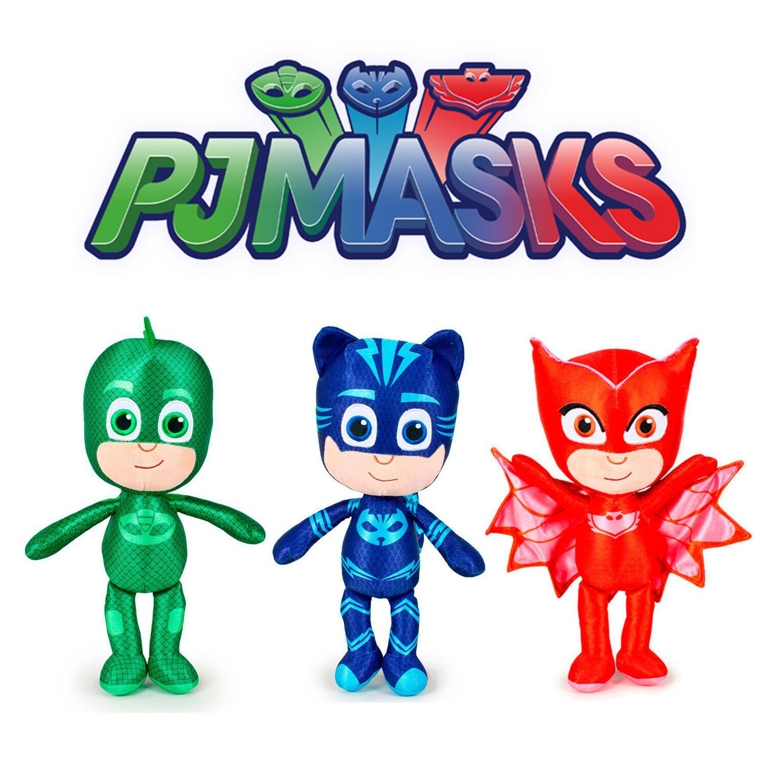 PJ MASKS - 27cm   10.6  Gift Quality Plush - 3 Assorted Characters Official New
