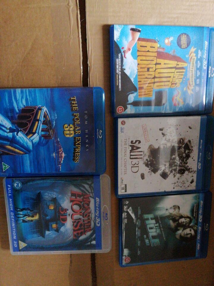 3D blu rays, Blu-ray, andet
