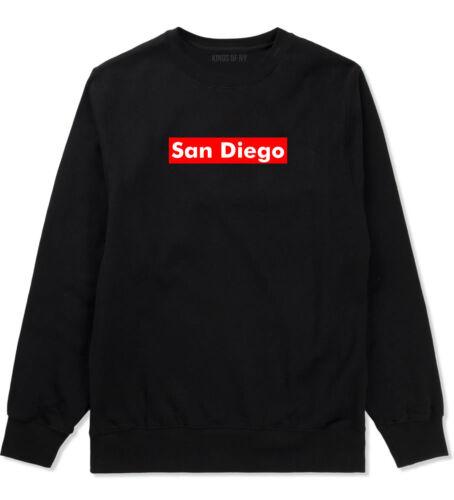 San Diego California Red Box Crewneck Sweatshirt