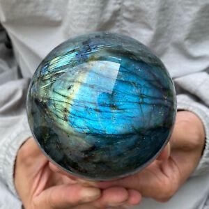 1PC-Natural-labradorite-quartz-sphere-crystal-ball-reiki-healing-90mm
