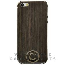 Toast Apple iPhone 5/5S/i5S Real Wood Stick-On Cover Combo Pack Plain Ebony