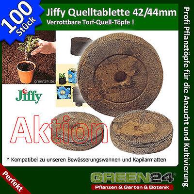 100 St. Jiffy® Quell-Tabletten Torf-Quelltöpfe Aussaaterde Anzuchterde Torf Tabs
