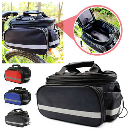Bike Bicycle Rear Rack Seat Pannier Bag Waterproof Seat Baggage Storage Bag