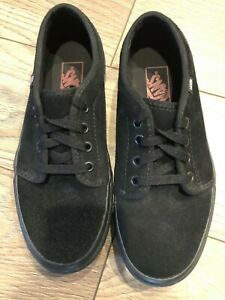 VANS OFF THE WALL  Black Suede Skate Shoes Mens Size 6.5 Womens 8