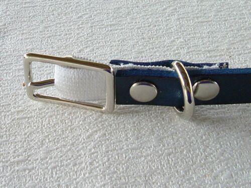 #CA2*STRETCH BLING  Leather KITTEN //CAT Collar*