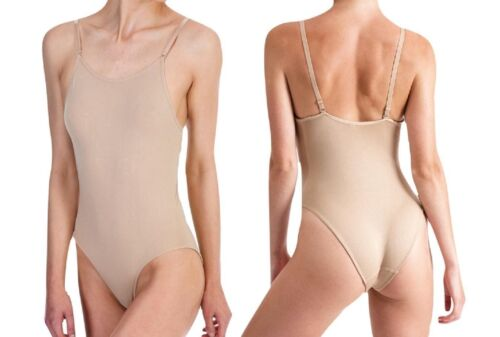 Silky Dance Girls Seamless Low Back Camisole Nude