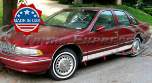 1991-1996-Chevy-Caprice-Chrome-Rocker-Panel-Trim-Stainless-Steel-BW-Side-Molding