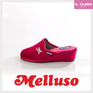 MELLUSO-PANTOFOLA-DONNA-VELLUTO-BORDO-039-ZEPPA-H-5-CM-MADE-IN-ITALY-NEW-COLLECTION