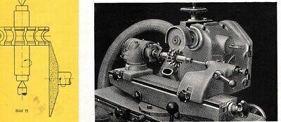 Hell Werkzeugschleifmaschine Wmw Swu 200 Bedienungsanleitung Bj 62
