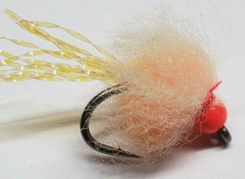 per 6 Details about  /Bead Head UV Nuke Egg Steelhead Orange Size 12