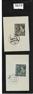 Adolph Hitler stamps on paper / German Protectorate  / Third Reich Occupation