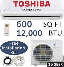 16 SEER 12000 BTU Ductless AC Mini Split Air Conditioner Heat Pump - 110v-120v
