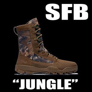 "MEN'S NIKE SFB FIELD ""JUNGLE"" 8"" REALTREE CAMO BOOTS HI  LEATHER 845168-990 11.5"