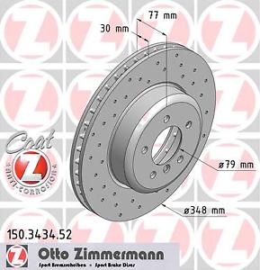 Zimmermann 150.3434.52 2 Stück Bremsscheibe SPORT-BREMSSCHEIBE COAT Z