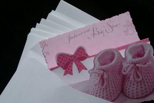 Invitaciones para Baby shower  Español~ Spanish Baby shower invitations,niña