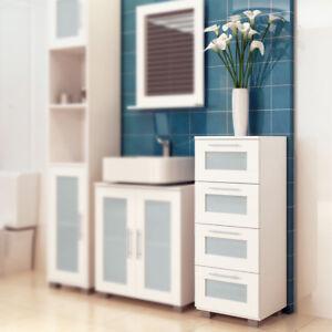 Das Bild Wird Geladen Badezimmer Kommode Schrank Badmoebel Schubladenschrank  Badschrank Hochschrank