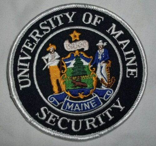 NEW Embroidered Uniform Patch UNIVERSITY OF MAINE SECURITY  NOS