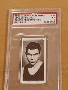 1938 Churchman Max Schmeling Boxing Personalities PSA 5 EX