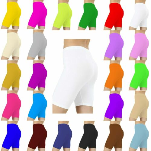 Kids Girls Children Neon Stretchy//Lycra Knee Shorts Cycling Pants Size 3-14 Year
