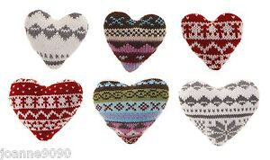 KNITTED-NORDIC-WOOL-LOVE-HEART-FESTIVE-CHRISTMAS-TREE-HOME-DECORATIONS-GIFT-TAGS