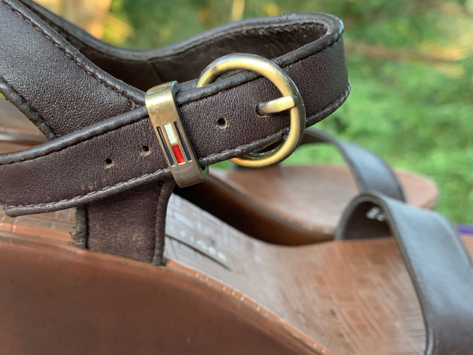 TOMMY HILFIGER Leather Slingbacks Clogs Mules Wed… - image 4