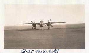 1945-WWII-USAAF-ATC-7th-FS-Bismark-ND-aiplane-Photo-B-25-Mitchell