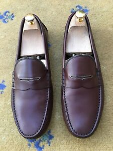 Scarpe-da-uomo-Louis-Vuitton-Tonalita-Marrone-Mocassini-Drivers-UK-9-5-US-10-5-EU-43-5