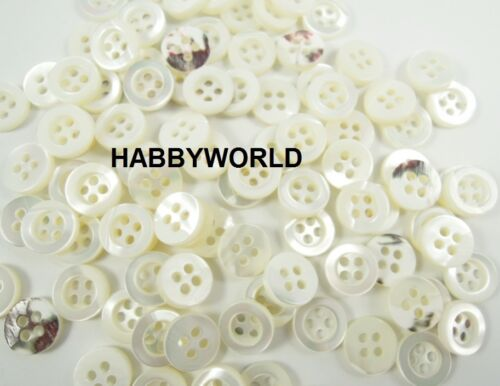 Small Mother Of Pearl Real Shell 12mm Buttons Ivory White Sewing Shirt Button