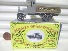 Lesney Matchbox Yesteryear Y6A OSRAM LAMPS 1916 LIGHT GREY AEC LORRY Crafted Box