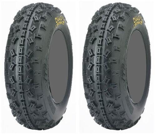 Pair 2 ITP Quadcross MX2 20x6-10 ATV Tire Set 20x6x10 20-6-10