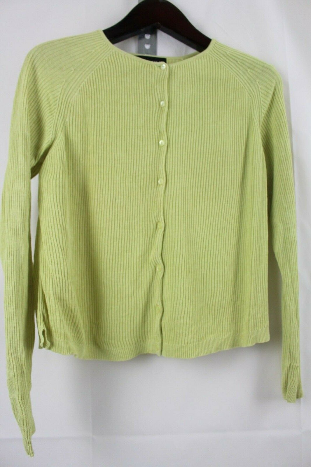 August Silk 100% Silk Green Button Down Cardigan Sweater Size - Large