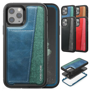Credit-Card-Holder-Rugged-Cover-Case-For-iPhone-11-Pro-XS-Max-XR-X-8-7-6S-6-Plus