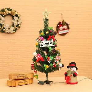new product 8819f d1f0f Details about 60cm Artificial Mini Pre-Lit Decorated Christmas Tree Table  Small XMAS Ornaments