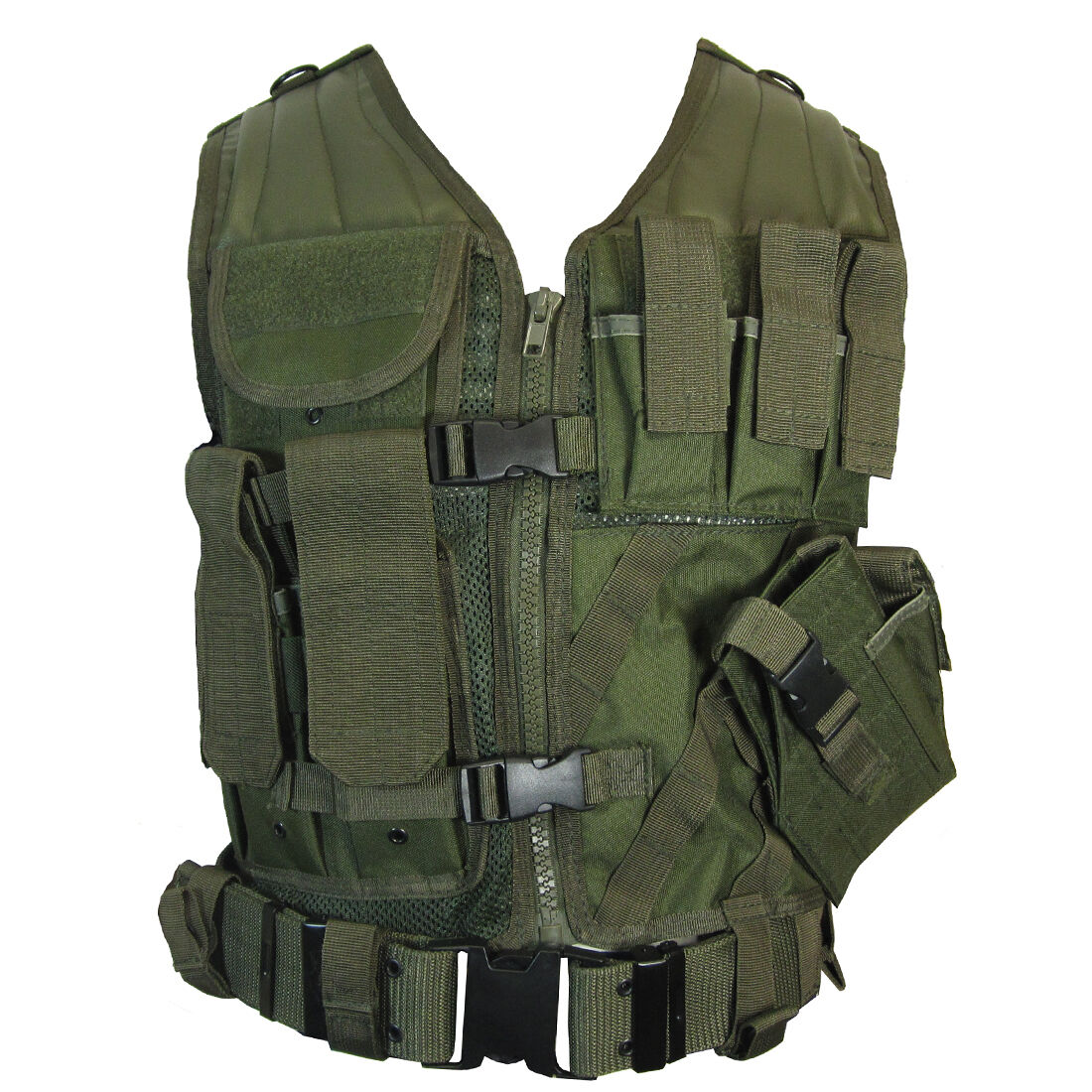 Olive verde USMC Tactical Vest Combat Assault Airsoft Army Molle Attachuominit Rig