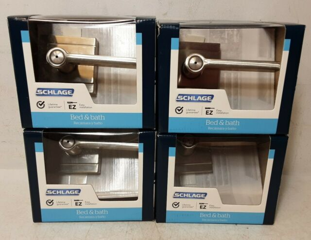schlage sacramento f40 v sac 625 privacy bed bath door lever set bright chrome for sale online ebay ebay