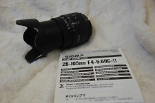 Sigma 28-105mm 1:4 - 5.6 UC Zoom Nikon AF with Hood