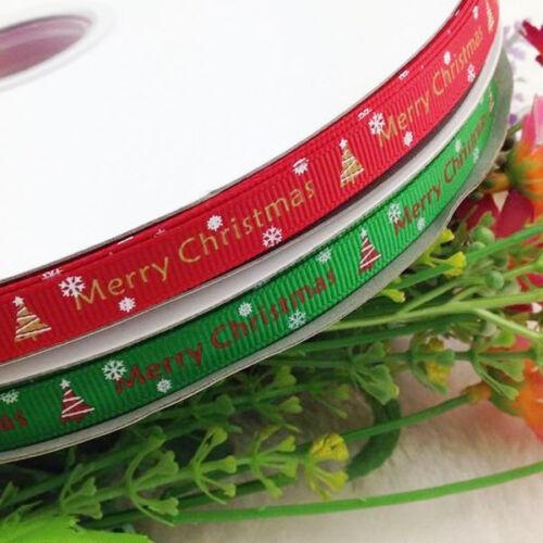 "3//8/"" U pick grosgrain ribbon Merry Christmas Wedding Craft Appliques 10Y"