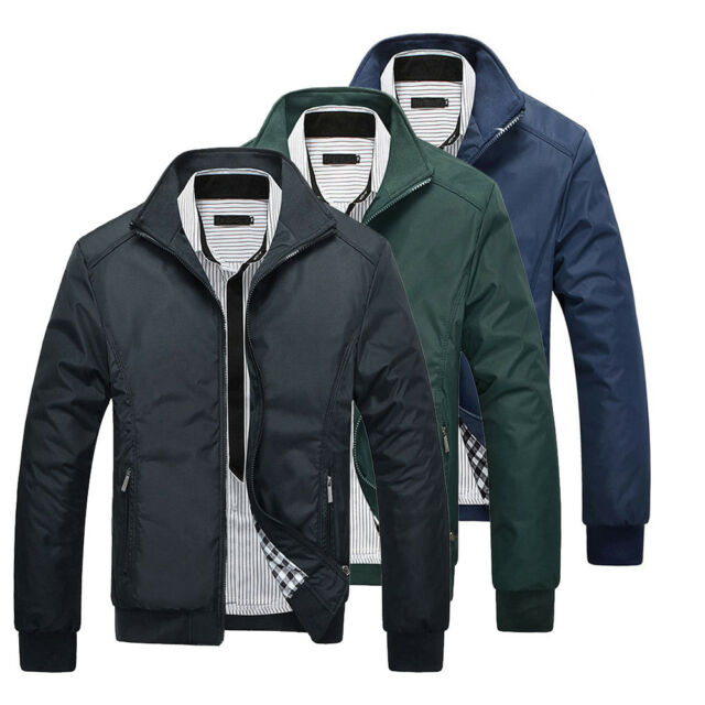 1d9a326af Mens Jacket Summer Lightweight Bomber Coat Casual Outfit Tops Outerwear  Clothing